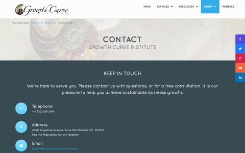 Screenshot of Contact Page sustainablebusinessgrowth.com - Contact Us - captured Oct. 31, 2014