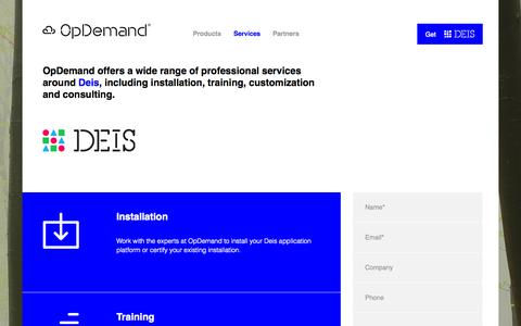 Screenshot of Services Page opdemand.com - Services | OpDemand - captured Sept. 12, 2014