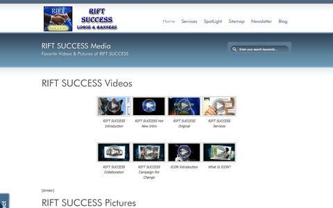 Screenshot of Press Page riftsuccess.com - RIFT SUCCESS Pictures & Videos | RIFT SUCCESS - captured Oct. 29, 2014