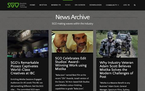 Screenshot of Press Page sgo.es - News | SGO Mistika - captured Jan. 23, 2016