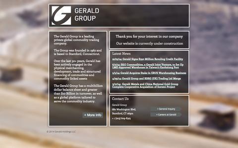 Screenshot of Home Page gerald.com - Gerald Group - captured Jan. 25, 2015