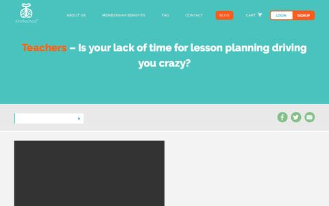 Screenshot of Blog ithinkschool.com - Adaptations - captured Nov. 17, 2016