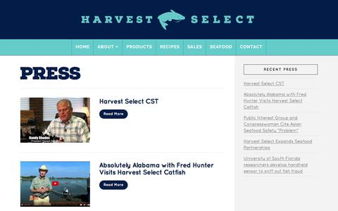Screenshot of Press Page harvestselect.com - Press Archive - Harvest Select - captured Oct. 29, 2016
