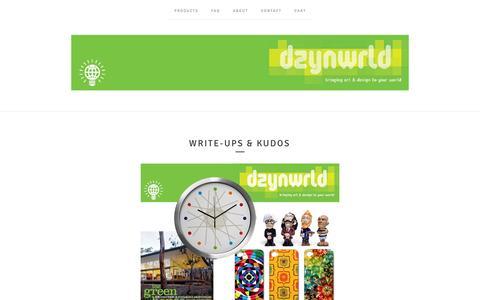 Screenshot of Testimonials Page dzynwrld.com - write-ups & kudos / dzynwrld - captured Oct. 27, 2014