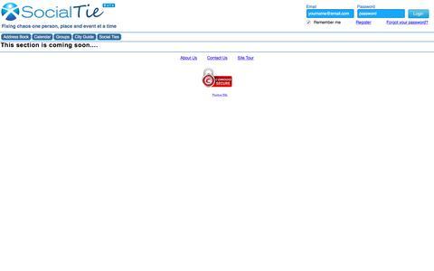 Screenshot of Privacy Page socialtie.com - SocailTie | Privacy Policy - captured Oct. 22, 2017