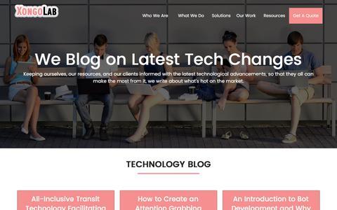 Screenshot of Blog xongolab.com - Website Development and Mobile Apps Development Blogs | XongoLab - captured July 17, 2019
