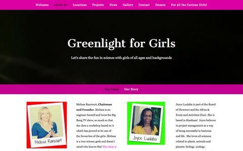 Screenshot of Team Page greenlightforgirls.org - Our Team — Greenlight for Girls - captured Sept. 30, 2014