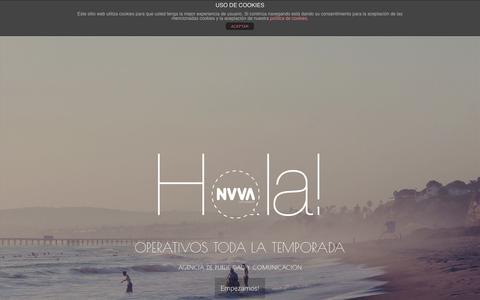 Screenshot of Home Page nuvacomunicacion.es - Nuva Comunicación   - captured Sept. 26, 2014