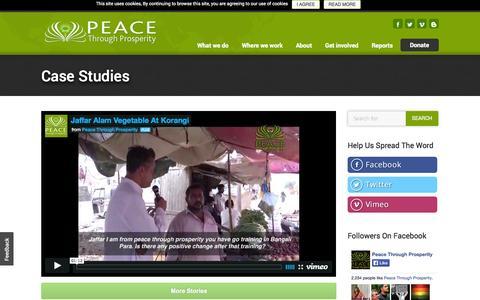 Screenshot of Case Studies Page bringptp.com - BringPTP |        Case studies - captured Nov. 1, 2014