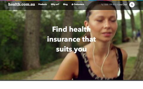 Screenshot of Home Page health.com.au - WeŐve reinvented health insurance. Switch today. - captured Nov. 16, 2015