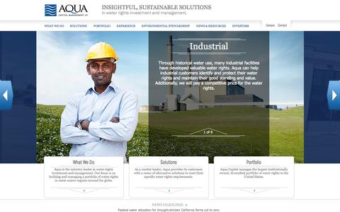 Screenshot of Home Page acmwater.com - Aqua Capital Management | Water rights investment and management - captured Oct. 4, 2014