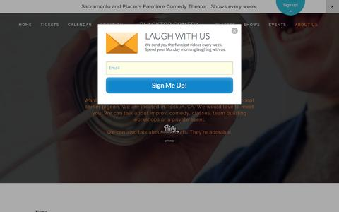 Screenshot of Contact Page blacktopcomedy.com - Contact — Blacktop Comedy - captured Jan. 6, 2016