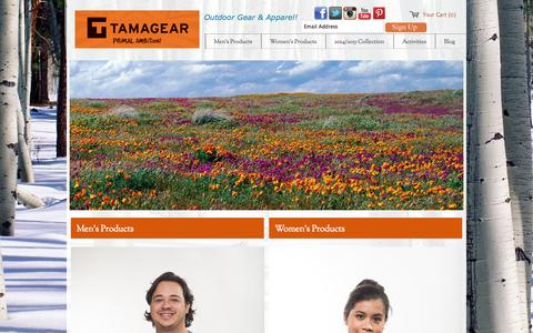 Screenshot of Home Page tamagear.com - Tamagear - PRIMAL AMBITION! - Outdoor Gear - captured Sept. 26, 2014
