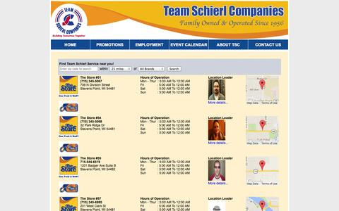Screenshot of Locations Page teamschierl.com - Team Schierl - LOCATIONS - captured Oct. 7, 2014