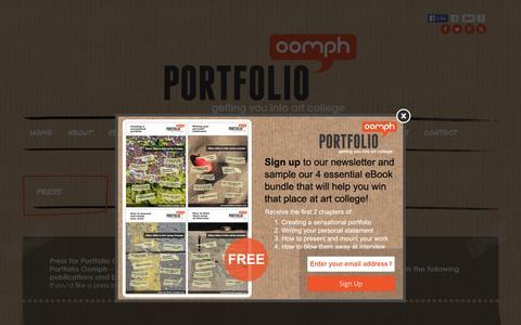 Screenshot of Press Page portfolio-oomph.com - Press - captured Dec. 10, 2015