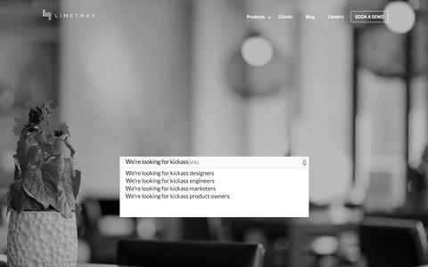 Screenshot of Jobs Page limetray.com - Jobs at LimeTray - captured July 20, 2018