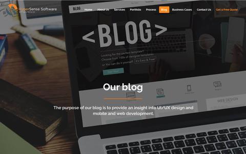 Screenshot of Blog hypersense-software.com - Mobile App, Web Development and Design Blog | HyperSense Software - captured May 24, 2017