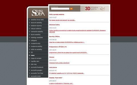 Screenshot of Press Page eurosofa.sk - Eurosofa - Novinky výpreadaj nové modely akcie - captured Oct. 30, 2014