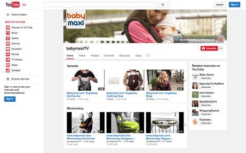 Screenshot of YouTube Page youtube.com - babymaxiTV  - YouTube - captured Oct. 23, 2014