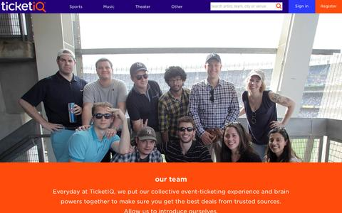 Screenshot of Team Page tiqiq.com - Team - TicketIQ - captured May 9, 2017