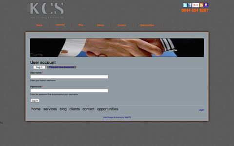 Screenshot of Login Page kelkcs.co.uk - User account | Kelkcs | Automotive Consulting | Consultancy, Automotive, Data | Cars, Feeds, Data feeds - captured Oct. 6, 2014