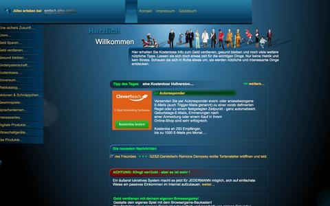 Screenshot of Home Page einfach-alles-online.com - Alles erleben bei einfach alles online - captured June 11, 2016