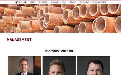 Screenshot of Team Page vogllc.com - Venado Oil & Gas, LLC : Austin, TX - captured Oct. 20, 2017