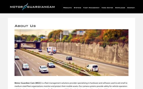 Screenshot of About Page motorgc.com - About Us - Motor Guardian Cam - captured Oct. 18, 2018