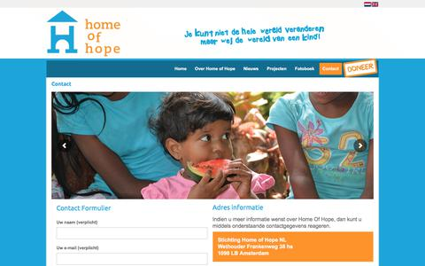 Screenshot of Contact Page homeofhope.nl - Contact - Home of hope - captured Aug. 26, 2017