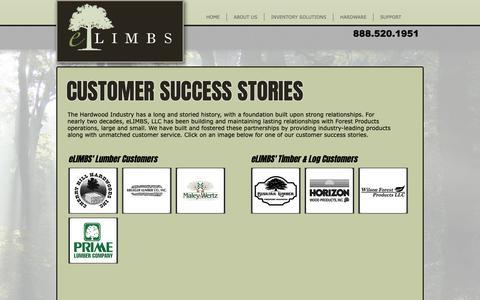 Screenshot of Testimonials Page elimbs.com - eLIMBS - electronic Lumber Inventory Management Business Systems | TESTIMONIALS - captured Sept. 30, 2018