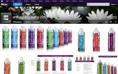 Screenshot of Flickr Page flickr.com - Flickr: anti-ageing water 2010's Photostream - captured Oct. 23, 2014
