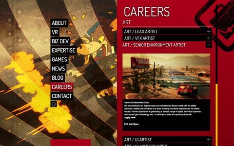 Screenshot of Jobs Page climaxstudios.com - Climax Studios |   Careers - captured Oct. 2, 2014