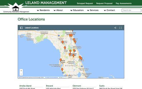 Screenshot of Locations Page lelandmanagement.com - Leland Management - captured July 1, 2018