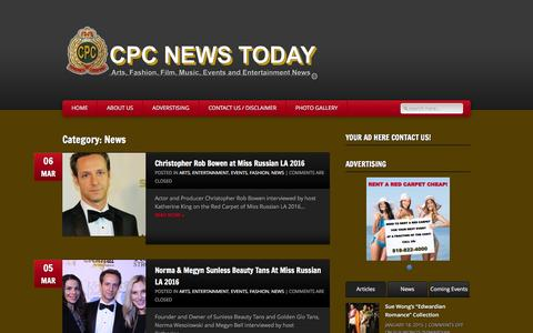 Screenshot of Press Page cpcnewstoday.com - CPC News Today » Category » News - captured March 8, 2016