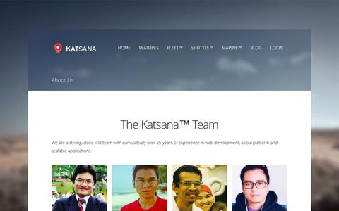 Screenshot of About Page katsana.com - About Us - Katsana GPS Tracking System Malaysia - captured Feb. 11, 2016