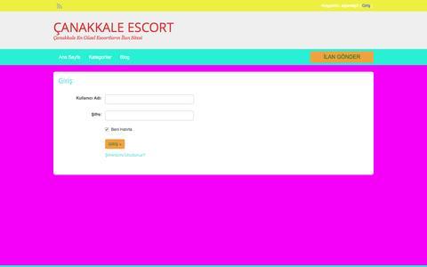 Screenshot of Login Page canakkalebutikotel.com - Login | ÇANAKKALE ESCORT - captured Jan. 29, 2017
