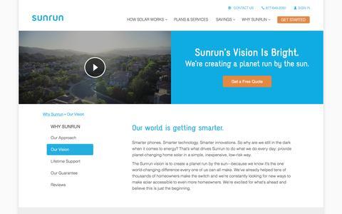 Screenshot of sunrun.com - Solar Energy   The Sunrun Solar Vision - captured March 31, 2016