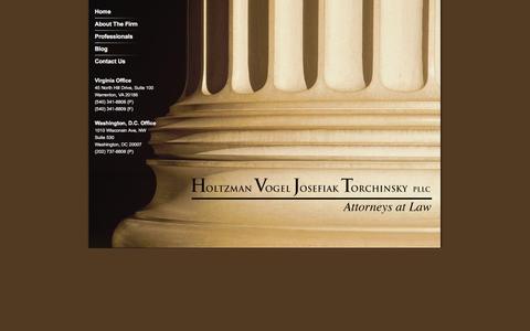 Screenshot of Home Page hvjt.law - HoltzmanVogel Josefiak PLLC | HVJT.law | HoltzmanVogel Josefiak PLLC | HVJT.law - captured March 12, 2016