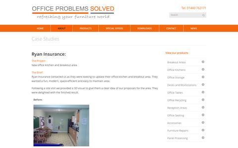Screenshot of Case Studies Page officeproblemssolved.com - Office Problems Solved » Case Studies|  Office Problems Solved - captured Jan. 11, 2016