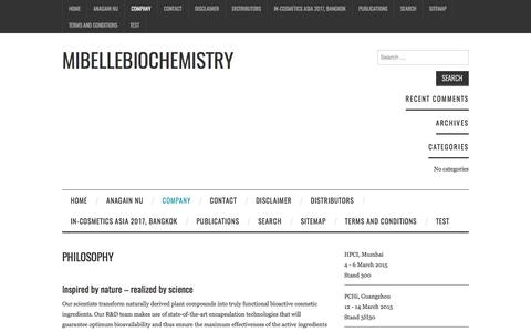 Philosophy – Mibellebiochemistry