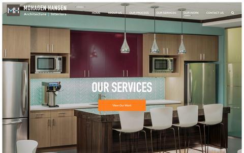 Screenshot of Services Page mohagenhansen.com - Mohagen Hansen Services   Architecture Minneapolis, Interior Design Minneapolis   Mohagen Hansen - captured Dec. 15, 2016