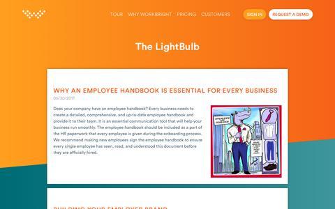 Screenshot of Blog workbright.com - Blogs   WorkBright - captured July 6, 2018