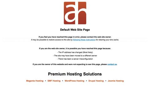 Screenshot of Home Page mmaservices.com - Default Web Site Page | Aspiration Hosting - Premium Hosting Solutions - captured Sept. 16, 2015