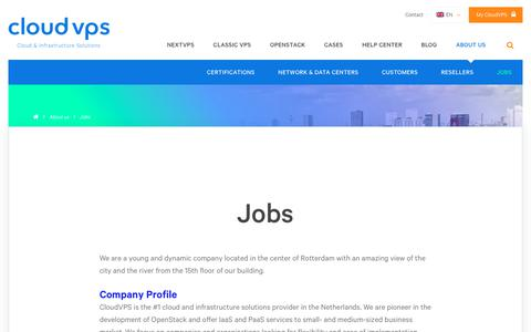 Screenshot of Jobs Page cloudvps.com - Jobs | CloudVPS - captured July 19, 2018