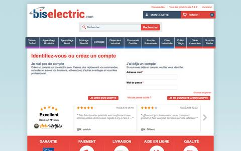 Screenshot of Login Page bis-electric.com - Identifiant client - captured Feb. 17, 2016
