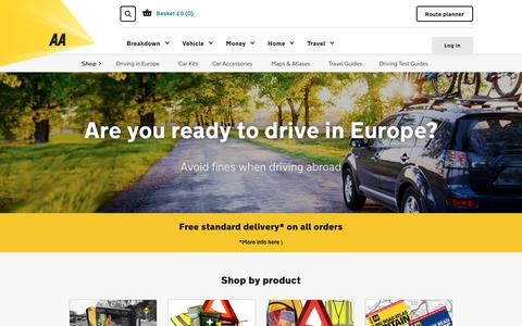 AA Shop | Visit the AA Shop for Car Kits, Car Accessories, Atlases, Maps and more
