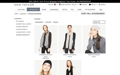 Cozy Fall Fashion Accessories for Women: Scarves & Hats | ANN TAYLOR