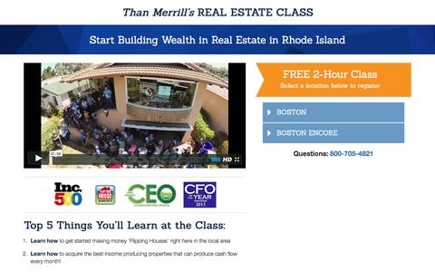 Screenshot of Landing Page fortunebuilders.com - Than Merrill's Real Estate Class - captured June 2, 2016