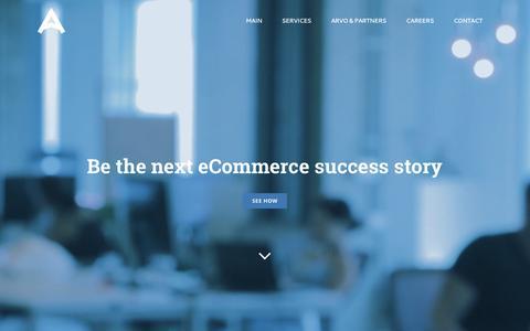 Screenshot of Home Page arvopartners.fi - Arvo Partners - captured May 30, 2017