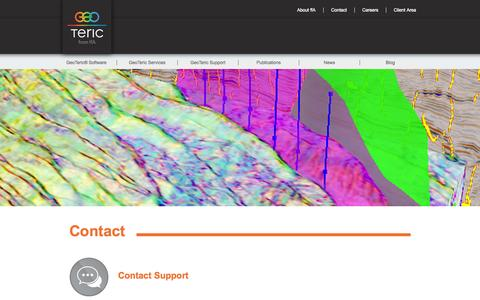 Screenshot of Contact Page geoteric.com - ffA GeoTeric - Contact - captured Nov. 3, 2014
